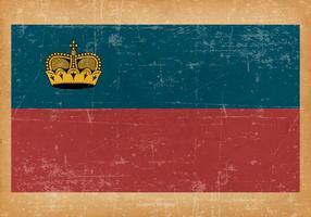 Grunge flagga av Liechtenstein