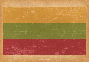 Grunge flagga av Litauen