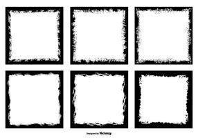 Grunge Style Foto Rahmen Kanten vektor