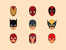 Superheldmaske Symbole vektor