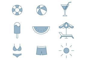 Sommer-Ikonen vektor