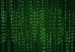 Zufällige Zahlen Matrix Hintergrund vektor