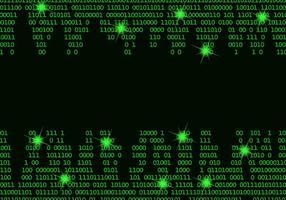 Framed Matrix Hintergrund Vektor