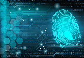 Digital Thumbprint Matrix Bakgrund vektor