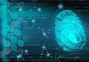 Digitaler Thumbprint Matrix Hintergrund vektor