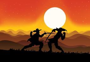 Musketeers Fighting Vector Background
