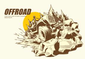 Freie Hand gezeichnete Offroad-Vektoren