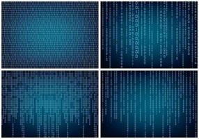Matrix Style Binär bakgrund vektor