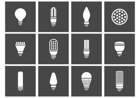 LED leuchtet Icons