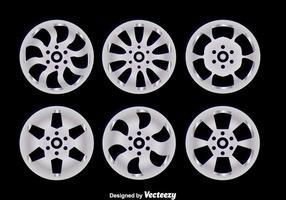 Alloy Wheels On Black Vectors