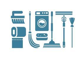 Reinigungs-Tool Vektor-Icons