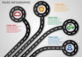 Roadmap Infografischer Vektor