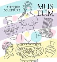 Elemente des internationalen Museumstages vektor