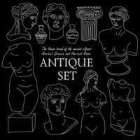 altes Griechenland und Rom Tradition und Kultur gesetzt vektor
