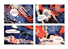 trendiga kreativa uppsättning banners vektor