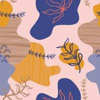 abstrakt sömlös blommönster. vektor