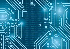Blaue Lichter Matrix Hintergrund