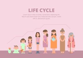 Lebenszyklus Illustration