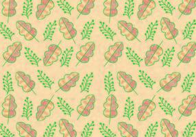 Ditsy Blatt Muster Vektor