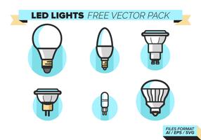 Led Lights Ikoner Gratis Vector Pack