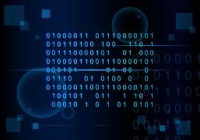 Nummerkodning Matrix Bakgrund Fri Vektor
