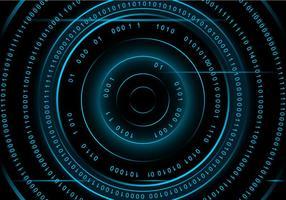 Cirkelnummer Matrix Bakgrund Gratis Vektor