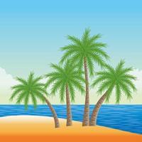 sommar-, strand- och semesterkomposition