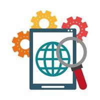 Symbol für technischen Support und Technologie vektor