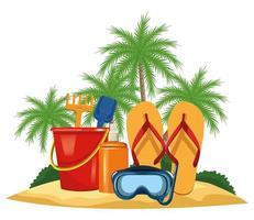 Sommer-, Strand- und Urlaubskomposition