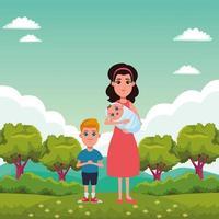 Zeichentrickfiguren der Familie