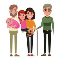 tecknade familjefigurer