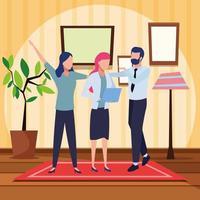 Geschäftsleute und kooperierendes Konzept