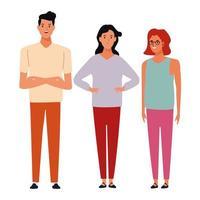 Gruppe von Cartoon glücklichen Menschen vektor