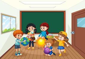 studenter i klassrumsbakgrunden
