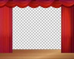 tom scenillustration med röda gardiner transparent