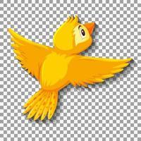niedliche gelbe Vogel-Zeichentrickfigur