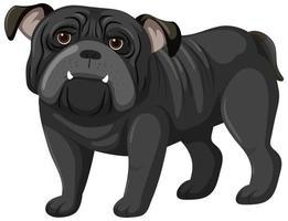 schwarzer Boxer-Karikaturstil auf weißem Hintergrund vektor