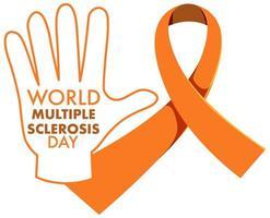 Orange Band Leukämie Bewusstsein Multiple Sklerose Bewusstsein Unterernährung Bewusstsein Zeichen oder Objekt