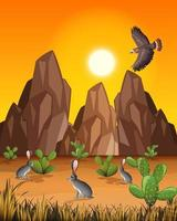 wilde Wüstenlandschaft am Tag Szene vektor