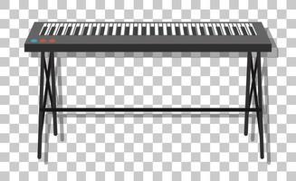 E-Piano mit Metallständer isoliert auf transparentem Hintergrund vektor