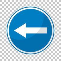 blaues Verkehrszeichen auf transparentem Hintergrund