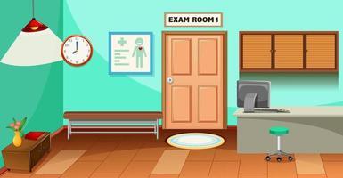 sjukhus tomt examen rum scen