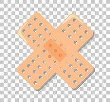 medizinischer Gips lokalisiert auf transparentem Hintergrund vektor