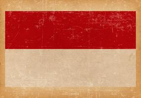 Grunge Flagga av Monaco