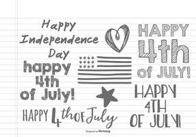 Hand Drawn Fourth of July Doodles vektor