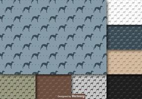 Vector Wiederholen Whippet Dog Icon Pattern