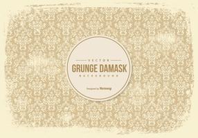 Old Grunge Damast Hintergrund vektor