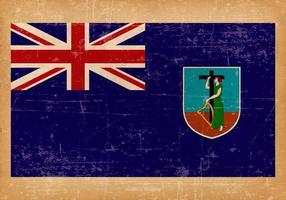 Grunge Flagge von Monserrat vektor