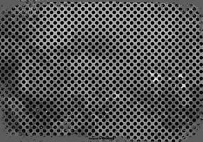 Svart Grunge Polka Dot Bakgrund vektor