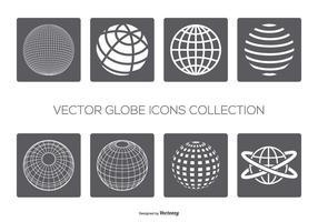 Vektor globes ikon samling